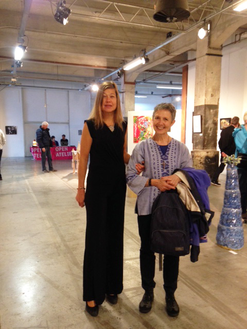 Laura Meddens and her friend Mauricia at Open Ateliers Oost in Amsterdam.
