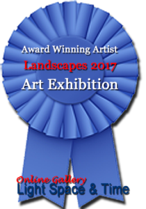 Award WInning Artist, Landscapes 2017 Art Exhibition. Online Gallery Light Space & Time.