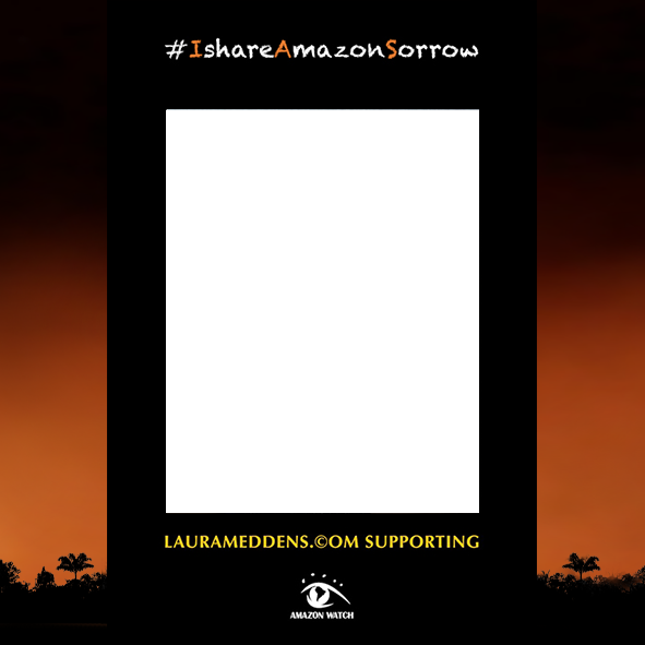 Square Amazon Sorrow selfie frame for Twitter.