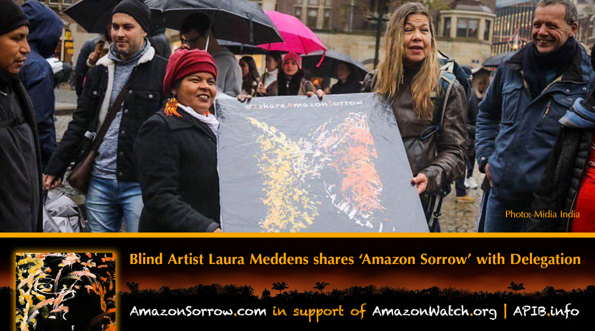 "Blind artist Laura Meddens shares ""Amazon Sorrow"" with Delegration. AmazonSorrow.com 
